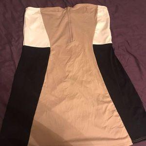 DKNY Strapless Cocktail Dress